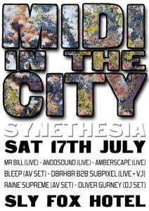 Midi In The City: Synethesia flyer